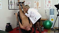 This phenomenal blonde doctor has a special treatment for her patient