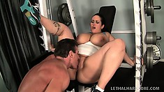 Carmella gets her cunt eaten out and then gets her pussy nailed