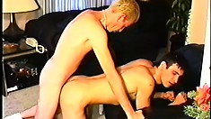 Lusty gay lad moans like a slut while getting fucked in the ass