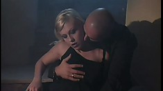 Gorgeous blonde cock-lover goes to jail and fucks a lonely jailbird