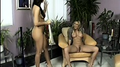 Mandy and Maria are two gorgeous cougars eager to fulfill their lesbian fantasies