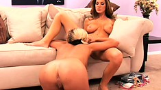 Beautiful MILF Kayla Page found a cute blond to pleasure her tonight