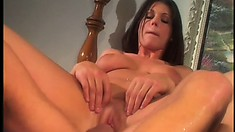 Eager college babe devours a big dick before it smashes her twat