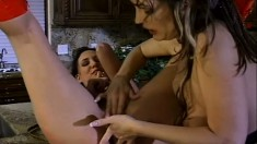Flick gets her perfect pink slit eaten out by an experienced lesbian