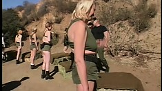 Eager young girls get down for some hardcore porn star training