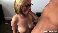 The sexy blonde is yearning for a big cock and her wishes are promptly granted