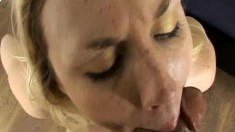 Miss Meadow has her mouth preparing a cock to drill her cunt POV style